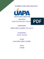 TRABAJO FINAL LEGISLACION MONETARIA BERNARDA MOREL