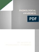 PHONOLOGICAL AWARENESS - as of Jan 22