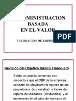 LA ADMINISTRACIÓN BASADA EN EL VALOR