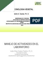 TEMA 2. MANEJO DEL LABORATORIO DE BIOTECNOLOGÍA VEGETAL