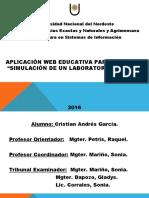 Aplicación WEB Educativa para Química I