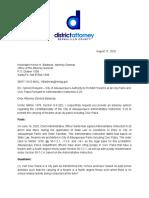 Letter From DA Torrez