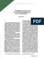BARREIRO, Jorge (1995-09) ''La izquierda uruguayana y el 'Descubrimiento de la ecología'''.[Ecologia Politica 9]
