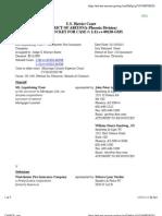 ML LIQUIDATING TRUST v. WESTCHESTER FIRE INSURANCE COMPANY Docket