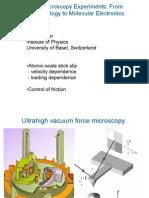 Force Microscopy Experiments