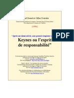 Michel Beaud, Keynes esprit responsabilite