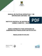 Manual de políticas operativas y de depuración contable