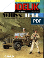 Modelik 1998.13 Willys Jeep Model MB