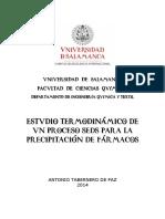 ESTUDIO TERMODINAMICO DE VN PROCESO SEDS PARA LA PRECIPITACION DE FARMACOS