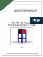MEMORIA DE CALCULO ESTRUCTURAS - TANQUE ELEVADO