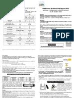 INSTRUCTIVO - Medidores de Gas a Diafragma HPM ITALIA