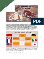 AYUDA PARA EXPONER PARTE LOS MANUALES ADMINISTRATIVOS EN LA SEGUNDA GUERRA MUNDIAL