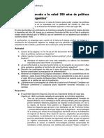 """""""El derecho a la salud 200 años de políticas sanitarias en Argentina"""""""