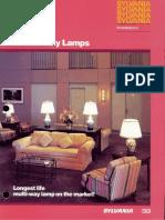 Sylvania Incandescent Hi-Lo 2 Way Lamps Brochure 1985