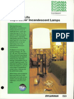Sylvania Incandescent Supersaver Standard Life Lamp Brochure
