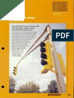 Sylvania Incandescent Supersaver Traffic Signal Lamp Brochure