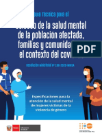 MINSA Cartilla Salud Mental y Vbg
