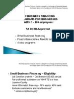 BusinessFinancing 1 19 11