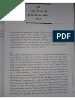 Paul Tillich- El Coraje de Exisitir (Extracto)