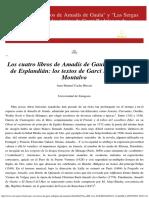 Juan Manuel Cacho Blecua_Amadís de Gaula