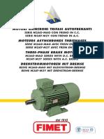 FIMET_AC BRAKE MOTORS Serie M2AO-MAO_I-E-F-D (Động cơ máy 6PV có phanh từ Type MAO 132M4 , 7,5KW, n=1440 rpm)