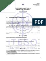 Materiales dieléctricos, energía electrostática y aplicaciones