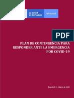 PLAN DE CONTINGENCIA PARA RESPONDER ANTE LA EMERGENCIA POR COVID-19