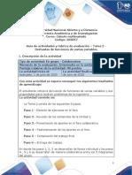 Guía de actividades y rúbrica de evaluación - Unidad 2 - Tarea 2 - Derivadas de funciones de varias variables (1)