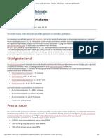 Recién nacidos prematuros - Pediatría - Manual MSD versión para profesionales