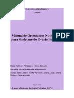 Manual de Orientações Nutricionais para Síndrome do Ovário Policístico (1)