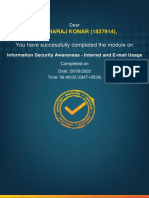 1837914_Information Security Awareness - Internet and E-mail Usage_Completion_Certificate