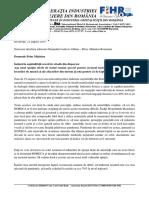 Scrisoare deschisă a FIHR către Premierul României