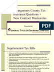 Real Estate, Property Taxes in MoCo County, Maryland