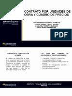 Contrato por unidades de obra y cuadro de precios