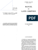 Blaise - Manuel du latin chretien
