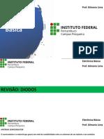 AULA 1 - REVISÃO DIODOS - PARTE 1 - SLIDES
