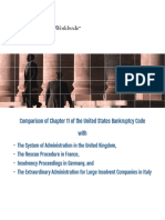 Comparison of Chapter 11 of US Bankruptcy Code with European Countries (Jones Day, 2007)