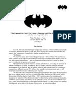 Batman Syllabus for 2010 Rice University Course
