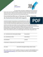 Einverständniserklärung-Online Unterricht
