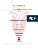 Assignment on Strategic Analysis for Pran-RFL group by applying Strategic Tools