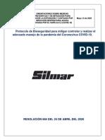 Protocolo de Bioseguridad para mitigar controlar SILMAR COLOMBIA SAS