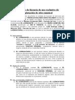 contrato de licencia de uso propiedad int.musical