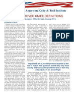 Akti Approved Knife Definitions