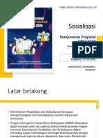 Penyusunan Proposal KIBM 2020 - UTM