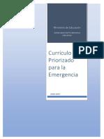 Currículo Priorizado Para La Emergencia 2020-2021