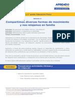 COMPARTIMOS DIVERSAS FORMAS DE MOVIMIENTO Y NOS RELAJAMOS EN FAMILIA