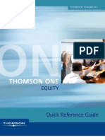 Thomson One Equity Quick Reference Guide