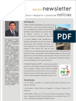 Newsletter do Departamento de Cultura, Desporto e Juventude
