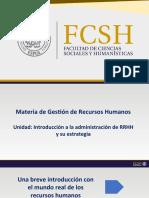 UNIDAD 1 ntroducc. a la Adm. RH y su estrategia G. Dessler  14ava Edic.
