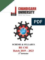 CSE_3rd sem Batch 2019_syllabus